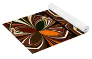 Abstract Triptych - Brown - Orange Yoga Mat