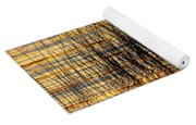 Abstract Reed And Water Patterns Yoga Mat