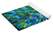 Abstrract Cubes Blue Yoga Mat