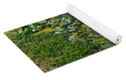 Aerial Of A Wetland, Over Northern Yoga Mat