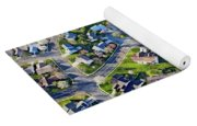 Aerial Pattern Of Residential Homes Yoga Mat