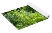 African Elephant Coming Through Trees Yoga Mat