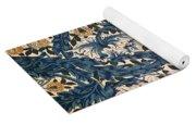 African Marigold Design Yoga Mat