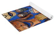 African Tribal Masks In Sidi Bou Said Yoga Mat