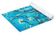Almond Blossom Branches Yoga Mat