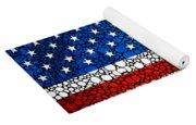 American Flag - Usa Stone Rock'd Art United States Of America Yoga Mat