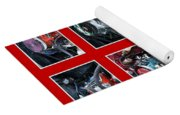 American Muscle Red Poster Yoga Mat