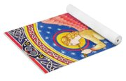 Angel Blowing Trumper Yoga Mat