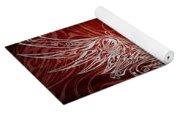 Angel Wings Crimson Yoga Mat