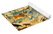 Antique Cutout Of Animals  Yoga Mat