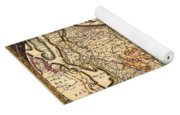 Antique Map Of Holland 1630 Yoga Mat