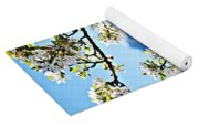 Apple Blossoms Frame The Rockies Yoga Mat