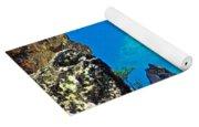 Aquamarine Shoreline At North Junction Of Crater Lake In Crater Lake National Park-oregon Yoga Mat