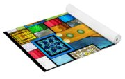 Art Deco Stained Glass 1 Yoga Mat