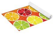 Assorted Citrus Pattern Yoga Mat