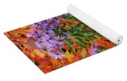 Autumn Asters Yoga Mat