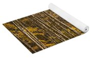 Autumn Forest Scene With Birches In West Michigan Yoga Mat