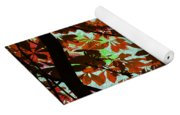 Autumn Leaf Abstract Yoga Mat