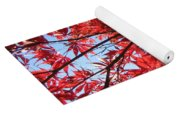 Autumn Leaves And Blue Sky Yoga Mat