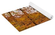Autumn Leaves Common Wood  Yoga Mat