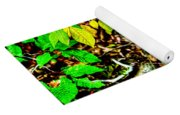 Autumn Leaves In Green And Yellow Yoga Mat
