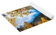 Autumn Scene Framed By Aspen Yoga Mat