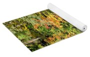 Autumn Watercolor Reflections Yoga Mat