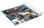 Aviation Collage Yoga Mat