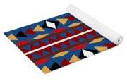 Aztec Blue Pattern Yoga Mat
