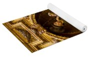 Baby Jesus And A Monk Sculpture Yoga Mat