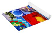 Balloon Fantasy Collage Yoga Mat