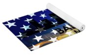 Baltimore Md Patriotic Large Cityscape Yoga Mat