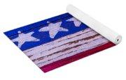 Baseball On American Flag Yoga Mat