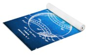 Baseball Patent Blueprint Drawing Yoga Mat