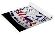 Baseball Terms Typography 1 Yoga Mat