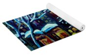 Beautiful Winter Evening Yoga Mat