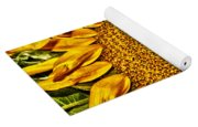Bees On Sunflower Hdr Yoga Mat