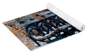Benches In The Snow Yoga Mat