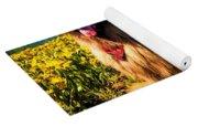 Bernese Mountain Dog And Leonberger Among Wildflowers Yoga Mat