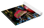 Berries And Red Leaves After The Rain Yoga Mat