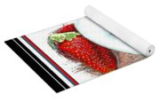 Berries And Yogurt Illustration - Food - Kitchen Yoga Mat