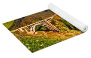 Bixby Creek Bridge Oil On Canvas Yoga Mat