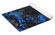 Black Cracks With Blue Yoga Mat