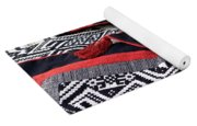 Black Thai Fabric 04 Yoga Mat