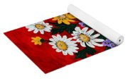 Black Vase With Daisies Yoga Mat