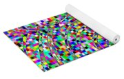 Blocks And Swirls Yoga Mat