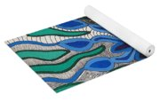 Blooming In Blue Yoga Mat