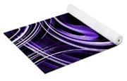 Blue 3d Swirls Yoga Mat