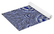 Blue And Silver 3 Yoga Mat