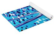 Blue And White Yoga Mat